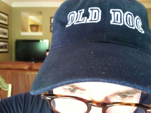 My new fav hat pretty much sums things up these days. If you want one, let me know. But you gotta be an old dog.