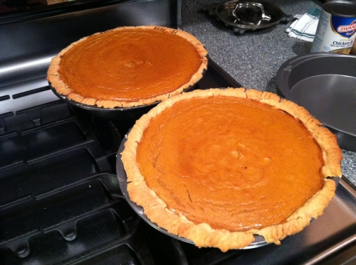 Even the pumpkin pies for Thanksgiving came out bad. I'll be back in the kitchen later today to try, try again. Usually I eat my mistakes but I don't know about this brace of so-so results. There's not enough whipped cream to turn these two into something edible.