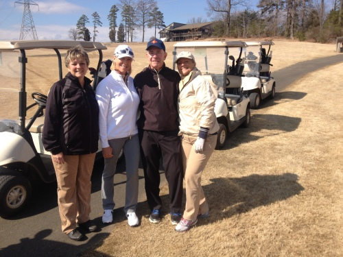 I was coerced - forced, really - to have my photo taken with some of the women in my golf group. We have an incredibly strong group of women golfers.