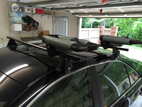 Kayak ordered. Check. Roof rack installed. Check. Next stop: Oak Island, North Carolina.