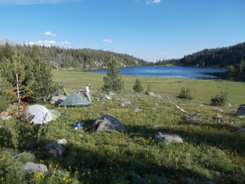 We made camp in one incredible spot after another. Mae's Lake was no exception.