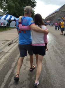 Tim and Ellen traipse through the Minnesota State Fair. Time for themselves, even among the crowds.