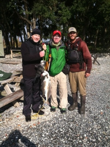 All it took for my friend Jody and me to finally catch fish on a raw day was some good guidance from Cap'n Tripp.
